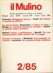 Copertina del fascicolo dell'articolo Rileggendo Camus: 'L'homme revolté' e i nostri anni di piombo