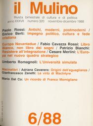 Copertina del fascicolo dell'articolo Antichi, moderni, postmoderni