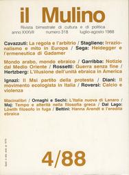 Copertina del fascicolo dell'articolo Movimento ecologista, liste verdi, domanda ecologica. Note sul caso italiano