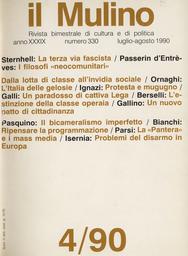 Copertina del fascicolo dell'articolo Gelosia senza amore. Psicologia di un'Italia priva d'identità