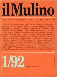 Copertina del fascicolo dell'articolo Movimenti migratori, politica dell'immigrazione e legislazione nel caso tedesco