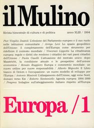 Copertina del fascicolo dell'articolo L'Europa degli italiani