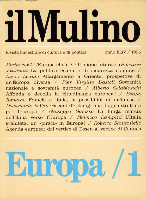 Cover del fascicolo Europa