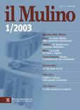 cover del fascicolo, Fascicolo arretrato n.1/2003 (gennaio-febbraio)