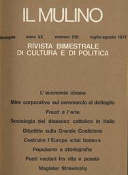 Copertina del fascicolo dell'articolo La matrice socio-religiosa del dissenso cattolico in Italia