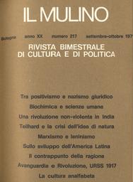 Copertina del fascicolo dell'articolo Aspetti di interesse generale delle scoperte biochimiche