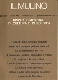 Copertina del fascicolo dell'articolo Critica e crisi della società borghese