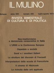 Copertina del fascicolo dell'articolo L'URSS e la Conferenza Europea