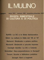 Copertina del fascicolo dell'articolo Origini e crescita della Democrazia Cristiana a Catania