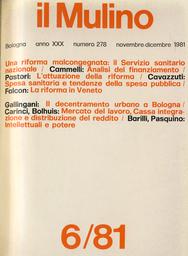 Copertina del fascicolo dell'articolo Regioni e riforma sanitaria: il caso del Veneto
